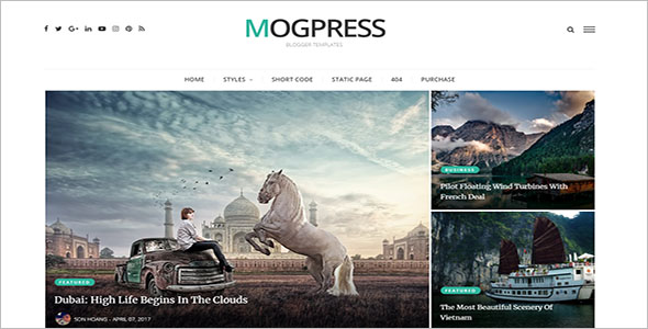 Mogpress Video Blogger Template
