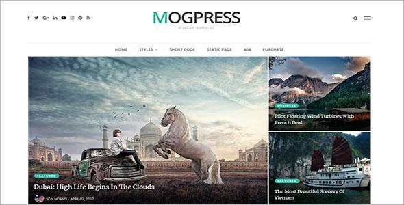 Mogpress Video Blogger Template