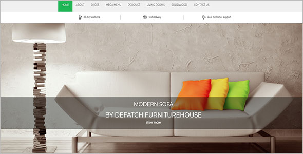Most Popular Furniture Bootstrap Theme