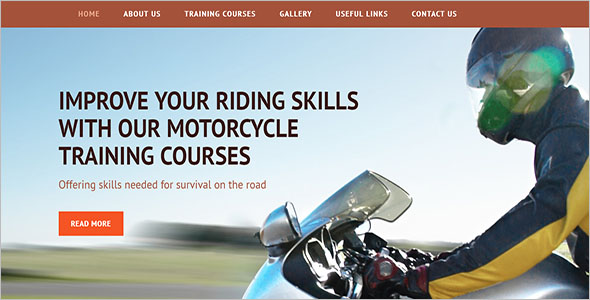 Motorcycle Training Website Template