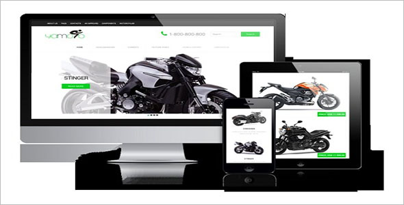 Motorcycle Website Template