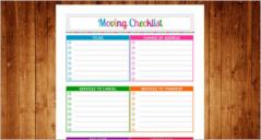 Moving Checklist Templates