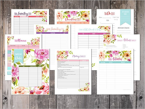 Moving Planner Checklist Template