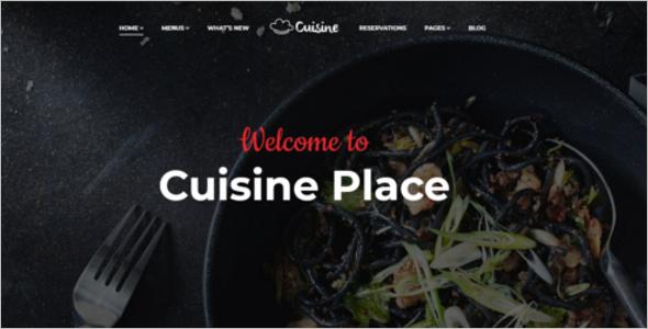 Multi-Cuisine Cafe Website Template