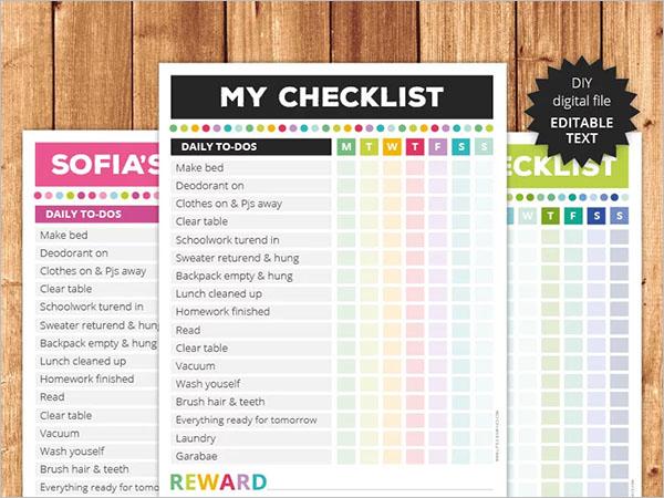 Multifunctional Checklist Template