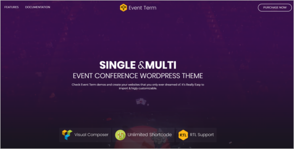 Multiple Event Management Website Theme