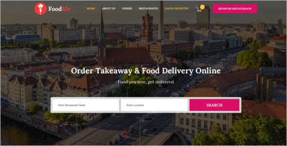 Multiple Food Ordering Website Template