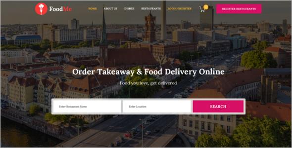 Multiple Food Ordering Website Template
