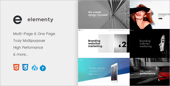 Best One Page Drupal 8 Theme