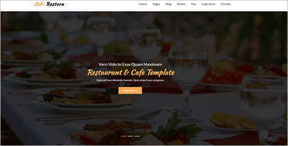 Multipurpose Catering Website Template