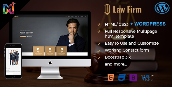 Multipurpose Law Firm Website Template