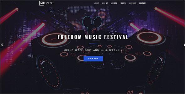 Music Event Joomla Template