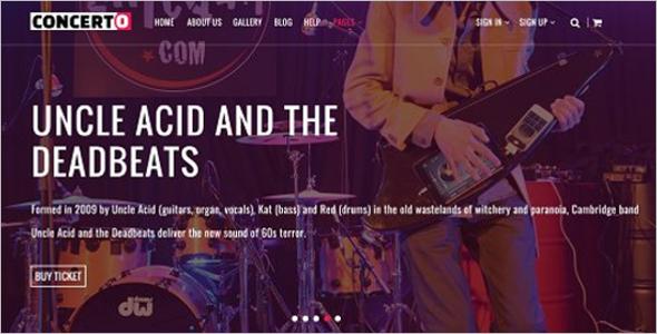 Music Event Website Template