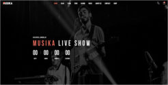 Musical Event Joomla Template