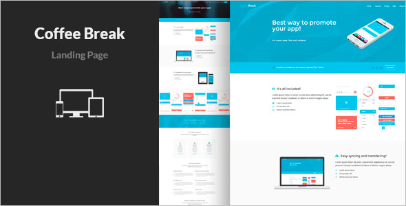 New App Landing Page Template