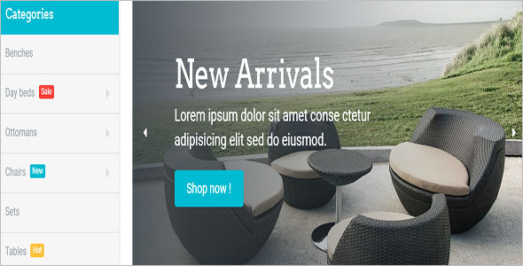 New Furniture Bootstrap Template