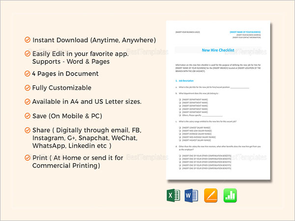 Modern Pc Checklist Template Component - Certificate Resume Template ...