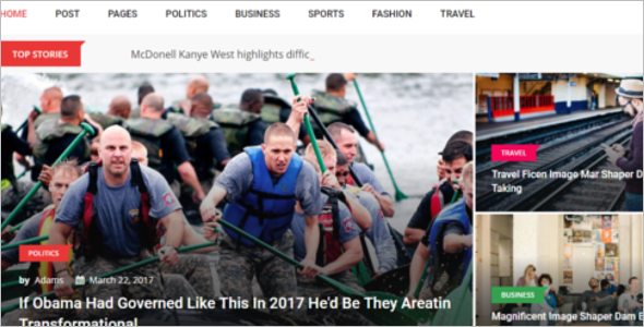 News & Magazine Website Template