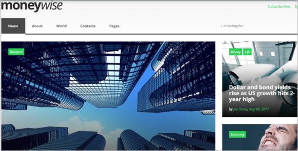 News Website Template Bootstrap