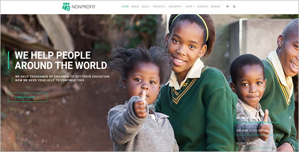 Non-Profit Helping Hand Blog Theme