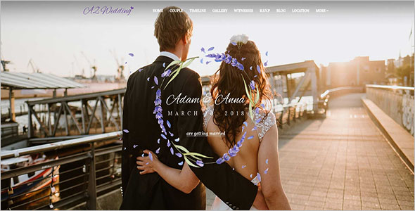 Official Wedding Event Joomla Template