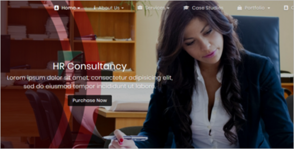 One Page Company Website Template