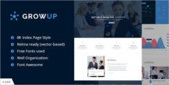 One Page Finance Company WordPress Theme
