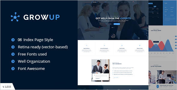 One Page Finance Company WordPress Theme