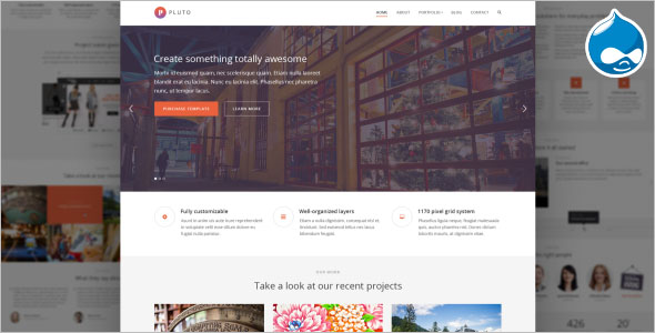 One Page & Multi Page Drupal Theme