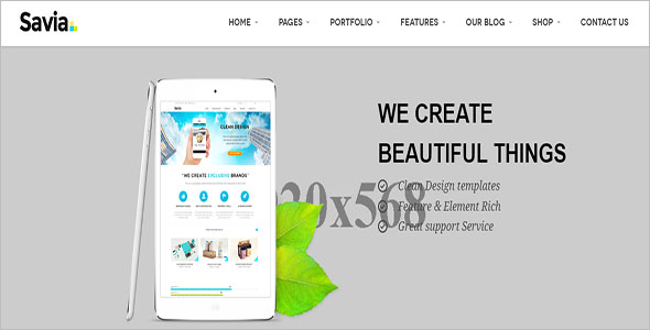 One Page Responsive Drupal 8 Theme