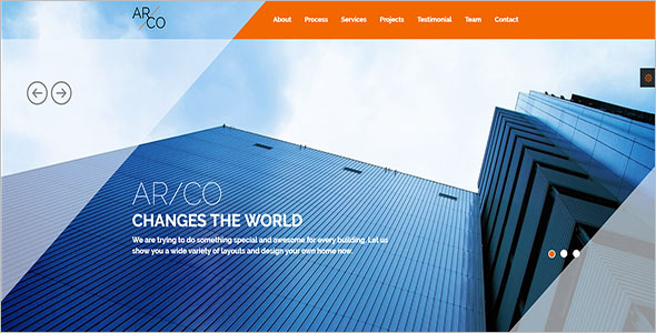One Page Static HTML Template