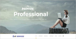 One page Business Services Joomla Template