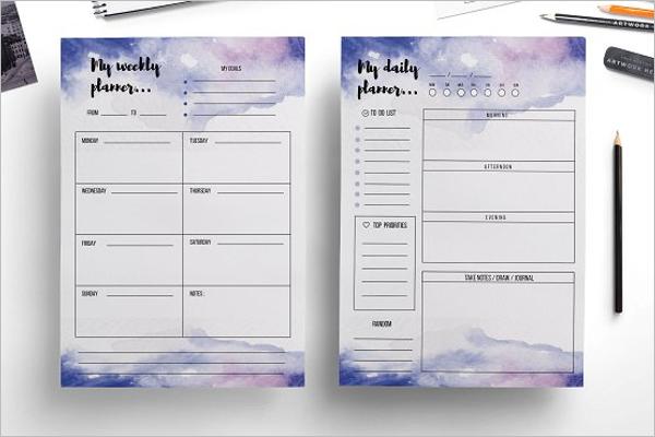 Online Agenda Planner Template Word