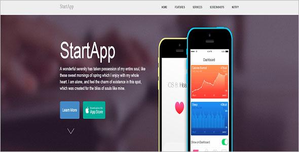 Online App Landing Page Template