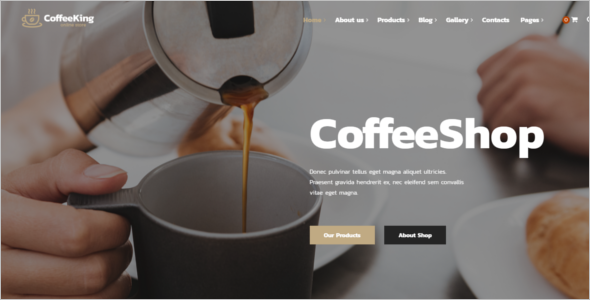 Online Cafe Website Template