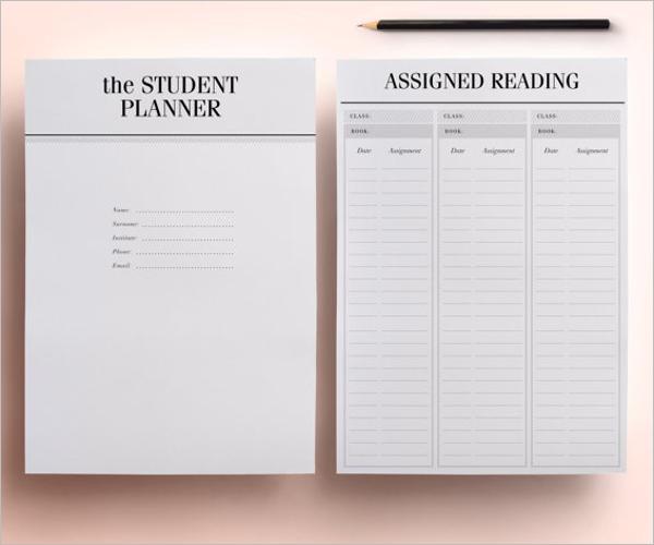Online Planner Template For Homework