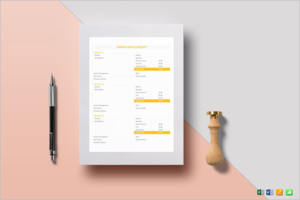Online Restaurant Receipt Template