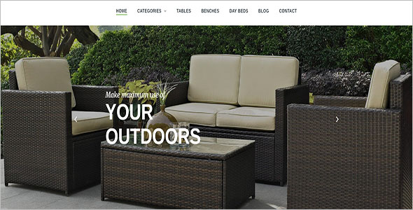 Outdoor Furniture Bootstrap Template