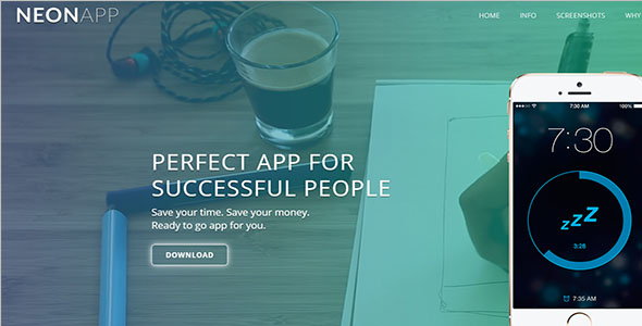 Own Mobile App Landing Page Template