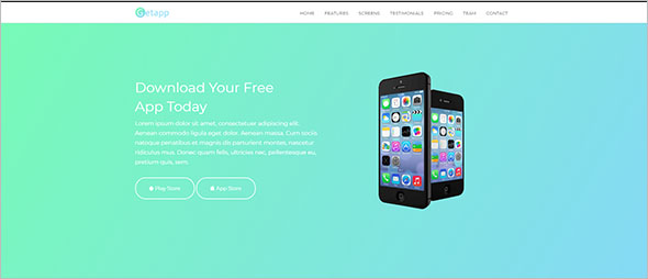 Own App Landing Page Template
