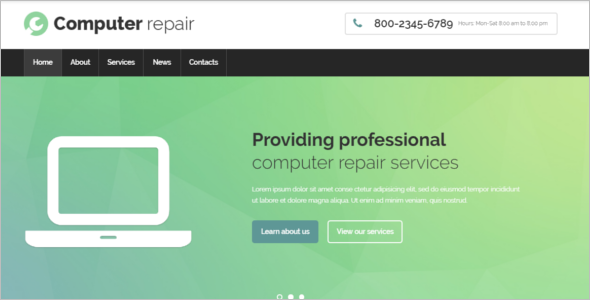 PC Repair Website Template