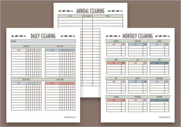 PDF Cleaning Checklist Template