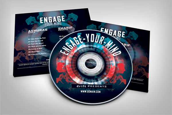 PSD CD Case Template Free