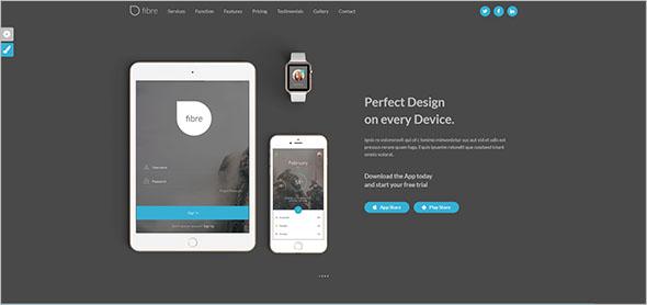 Parallax App Landing Page Template