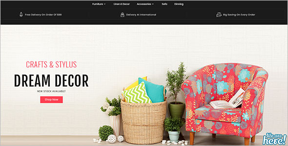 Parallax Furniture Bootstrap Template