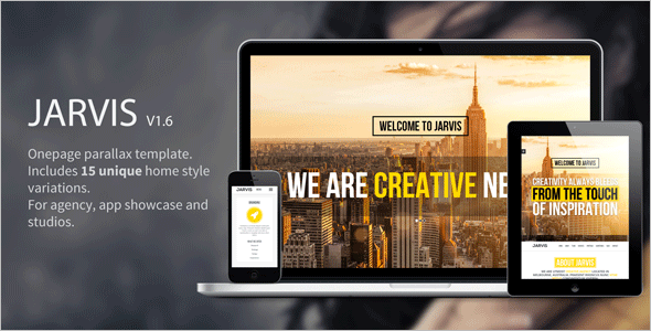 Parallax Onepage Website Templates