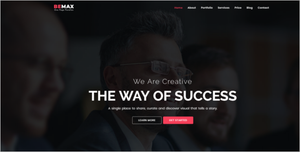Parallax Scrolling Website Theme