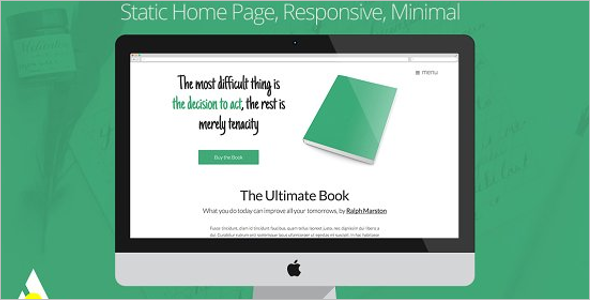 Parallax Writer Website Template