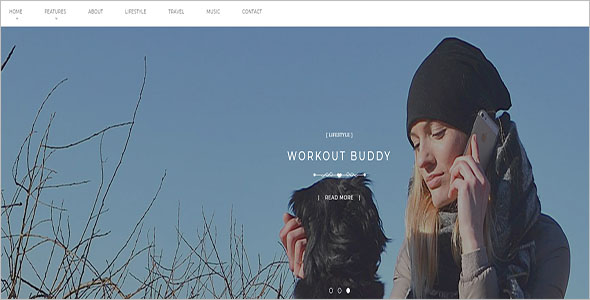 Personal Blog Theme For Drupal 8
