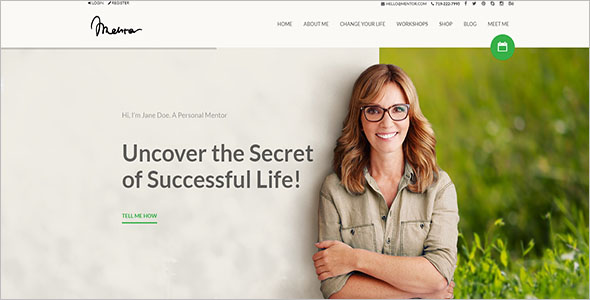 Personal Development Coach WordPress Theme